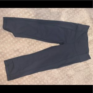 lululemon leggings with small slits in back